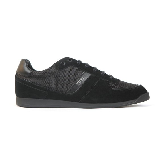 BOSS Mens Black Athleisure Maze Low Suede Mix Trainer