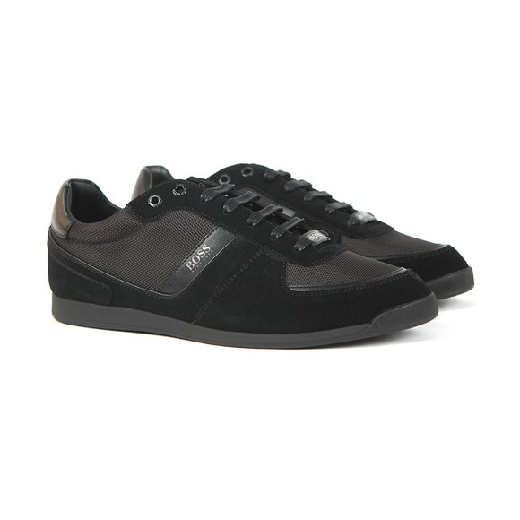 BOSS Mens Black Athleisure Maze Low Suede Mix Trainer main image