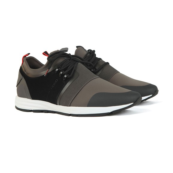HUGO Mens Grey Hybrid Runner MXSC Trainer main image