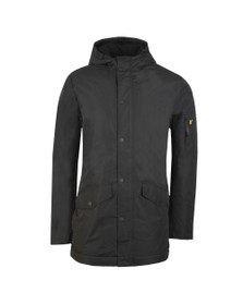 Lyle and Scott Mens Black Technical Parka Jacket