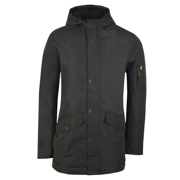 Lyle and Scott Mens Black Technical Parka Jacket main image