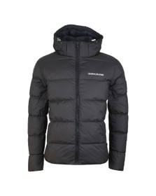 Calvin Klein Jeans Mens Black Hooded Down Puffer Jacket