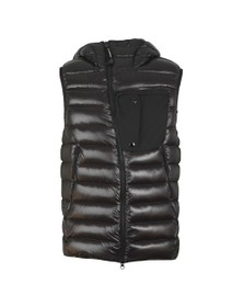 C.P. Company Mens Black Direct Down Hooded Goggle Gilet