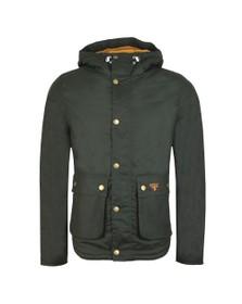 Barbour Beacon Mens Green Hooded Reelin Jacket