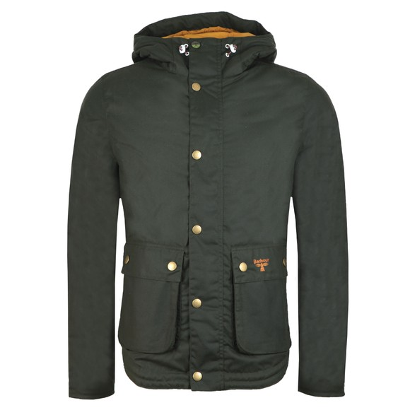 Barbour Beacon Mens Green Hooded Reelin Jacket main image