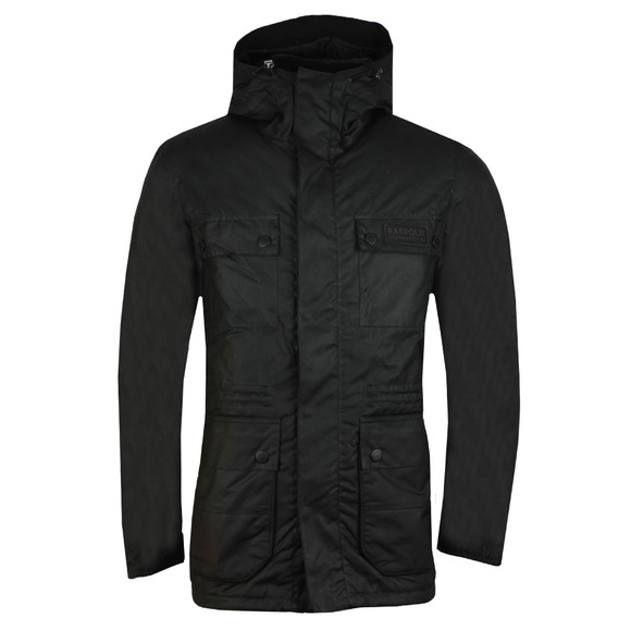 Barbour International Mens Black Imboard Wax Jacket main image