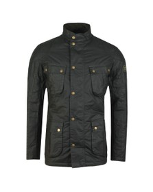 Barbour International Mens Green Winter Lockseam Wax Jacket