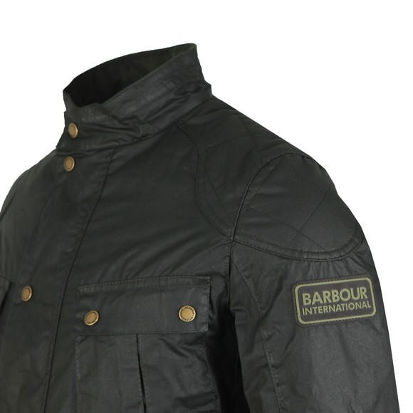 Barbour International Mens Green Winter Lockseam Wax Jacket main image