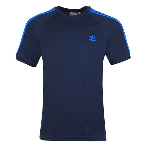 adidas Originals Mens Blue 3 Stripes T-Shirt main image