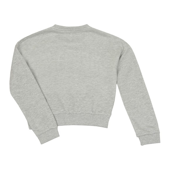 Guess Girls Grey Glitter Logo Sweatshirt