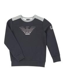 EA7 Emporio Armani Boys Blue Boys Fade Eagle Sweatshirt