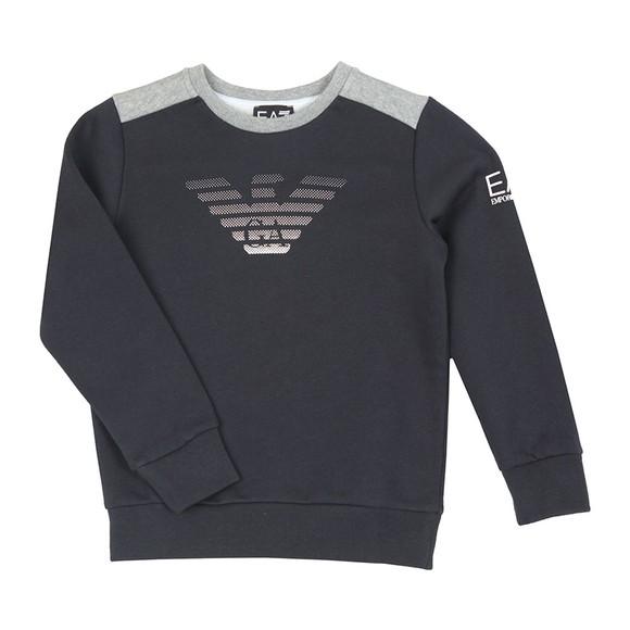 EA7 Emporio Armani Boys Blue Boys Fade Eagle Sweatshirt main image