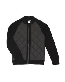 BOSS Boys Black Boys Quilted Mix Knitted Jumper