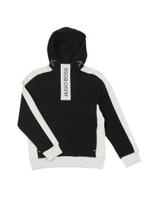 BOSS Boys Black Boys Chest Logo Overhead Hoody