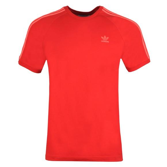 adidas Originals Mens Red 3 Stripes T-Shirt main image