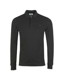 Lacoste Mens Black L/S Paris Polo