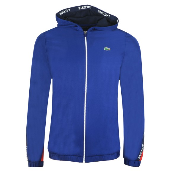 Lacoste Sport Mens Blue Full Zip Hooded Blouson