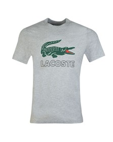 Lacoste Mens Grey TH6386 Print Tee