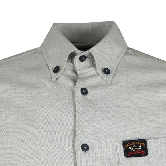 Paul & Shark Mens Grey Light Chest Pocket Shirt