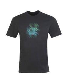 C.P. Company Mens Black Fade Logo T Shirt