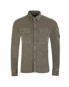 C.P. Company Mens Green Cord Shirt