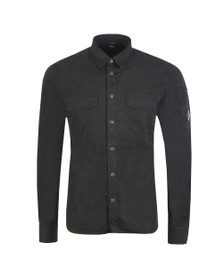 C.P. Company Mens Black Chest Pocket Shirt