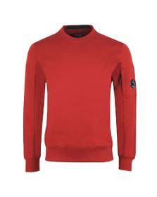 C.P. Company Mens Red Detailed Neck Crew Neck Sweatshirt