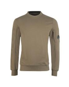 C.P. Company Mens Green Detailed Neck Crew Neck Sweatshirt