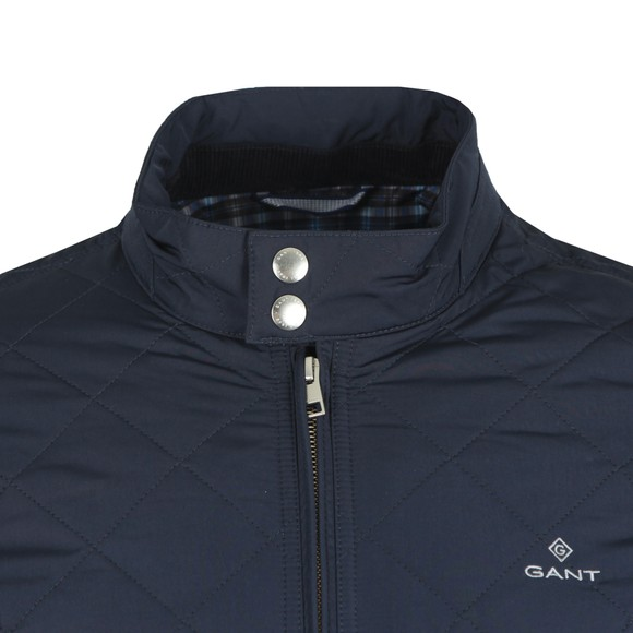 Gant Mens Blue The Quilted Windcheater main image