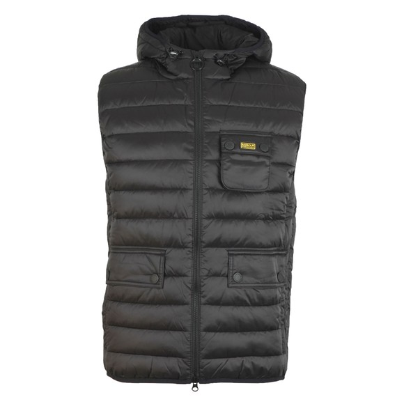 Barbour International Mens Black Ouston Hooded Gilet main image
