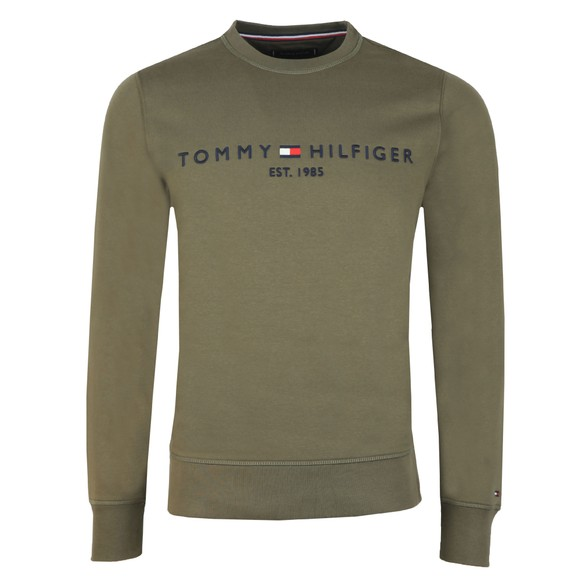 Tommy Hilfiger Mens Green Logo Sweatshirt main image