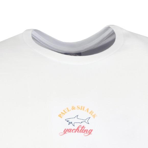 Paul & Shark Mens White Centre Logo T-Shirt