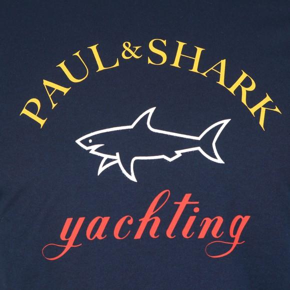 Paul & Shark Mens Blue Large Logo T Shirt