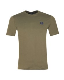 Paul & Shark Mens Green Chest Badge Plain T Shirt