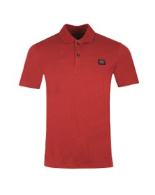 Paul & Shark Mens Red Chest Badge Polo Shirt