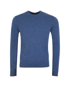 Paul & Shark Mens Blue Colours Of Shetland Lambswool Jumper
