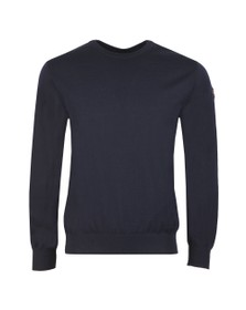 Paul & Shark Mens Blue Fine Merino Wool Crew Jumper