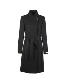 Ted Baker Womens Black Ellgenc Long Belted Wrap Coat