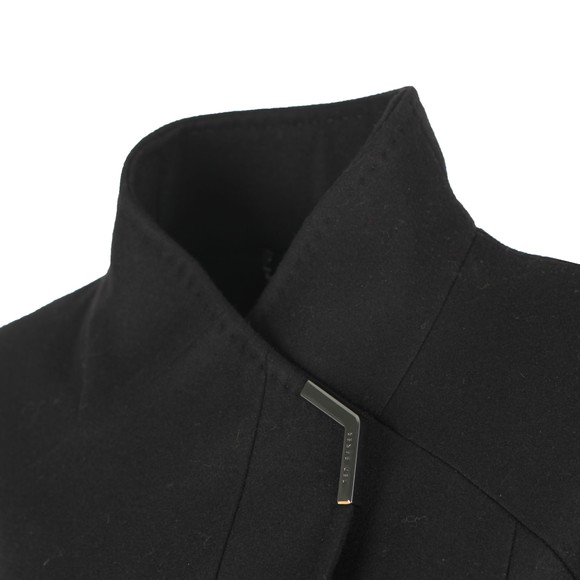 Ted Baker Womens Black Ellgenc Long Belted Wrap Coat main image