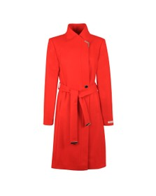 Ted Baker Womens Red Ellgenc Long Belted Wrap Coat