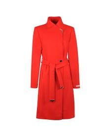 Ted Baker Womens Red Ellgenc Long Belted Wrap Coat