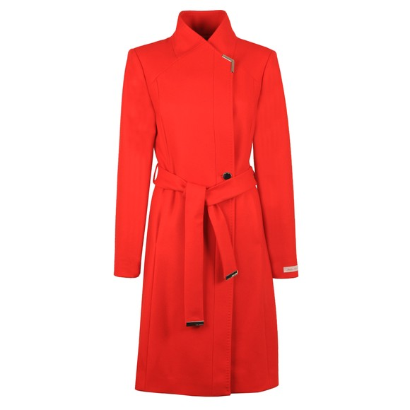 Ted Baker Womens Red Ellgenc Long Belted Wrap Coat main image