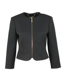 Ted Baker Womens Black Laj Textured Cropped Jacket