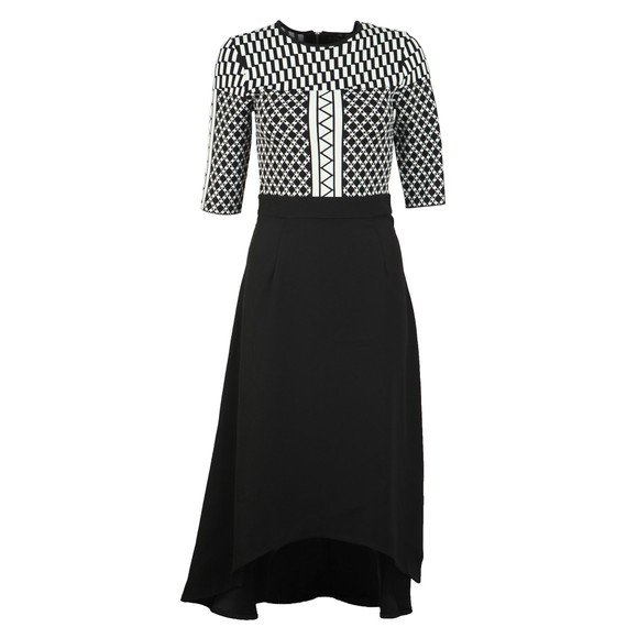 Ted Baker Womens Black Aggigi Tulip Skirted Dress