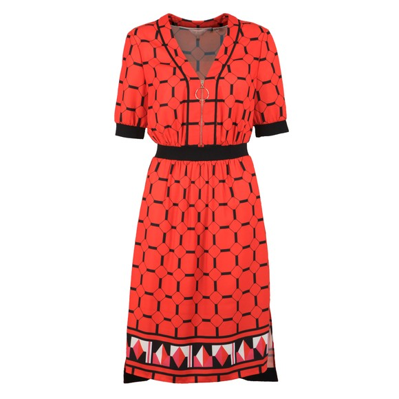 Ted Baker Womens Red Valent Zip Front Detail Dress