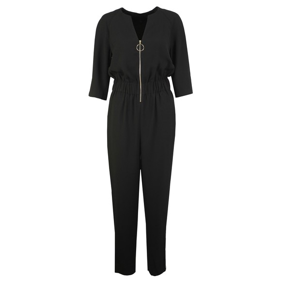 Ted Baker Womens Black Iiris Zip Front Detail Jumpsuit main image