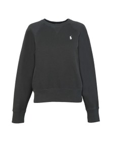 Polo Ralph Lauren Womens Black Fleece Crew Neck Sweatshirt