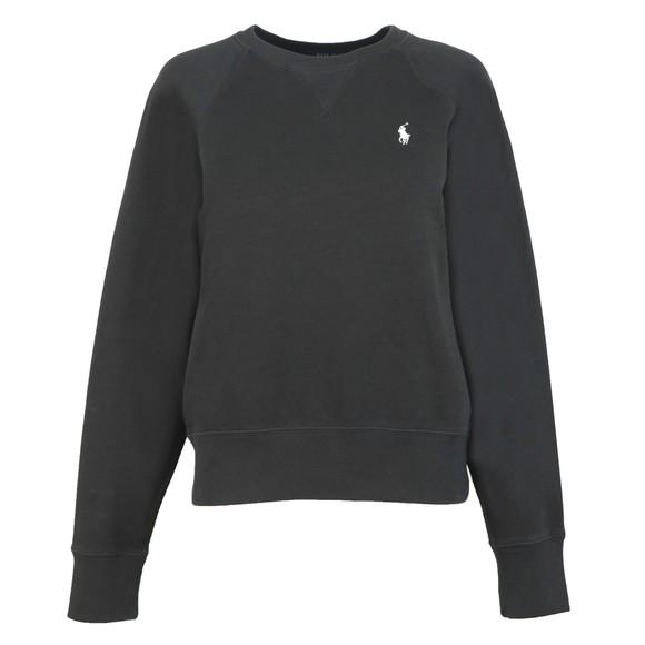 Polo Ralph Lauren Womens Black Fleece Crew Neck Sweatshirt