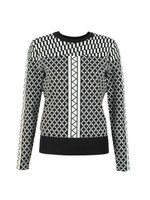 Joziff Mixed Pattern Texture Jumper