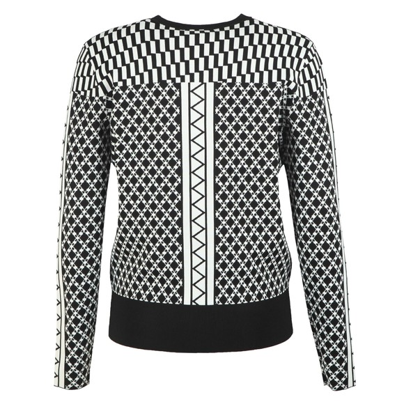 Ted Baker Womens Black Joziff Mixed Pattern Texture Jumper main image